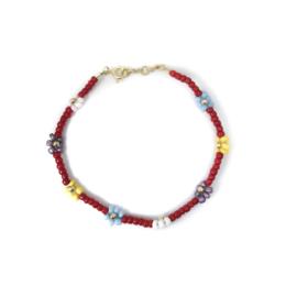 Flower Dream Red Bracelet