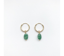 Emerald Jade Earrings