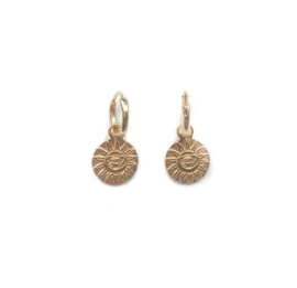 Magic Sun Coin Earring