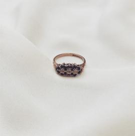 Sapphire Flower Trilogy Ring