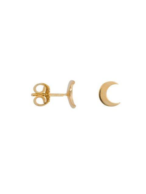 Moon Studs Gold