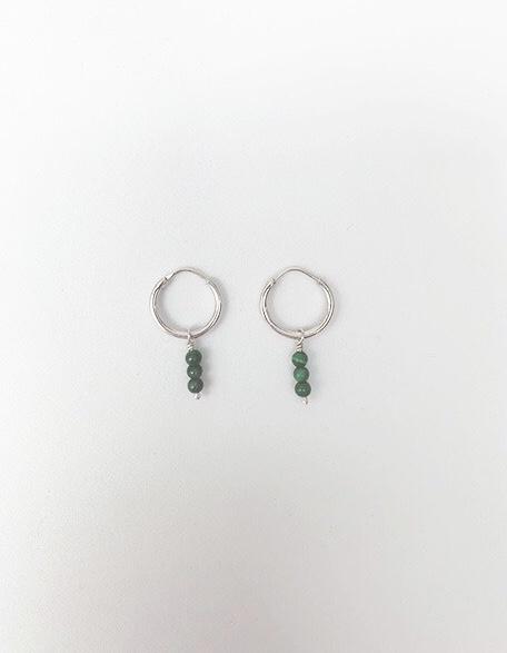 3 Malachite Stone Earrings