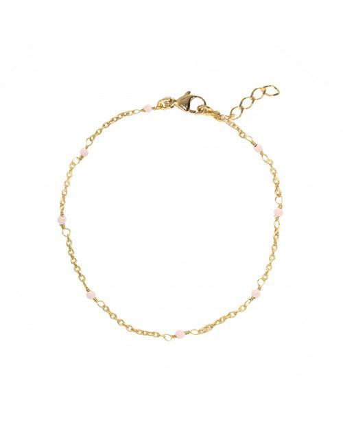 Rose Quartz Rolling Stones Bracelet