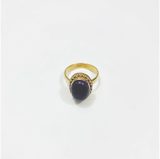 Amethyst Snow Moon Ring