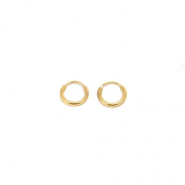 Golden Hoop Earrings Small