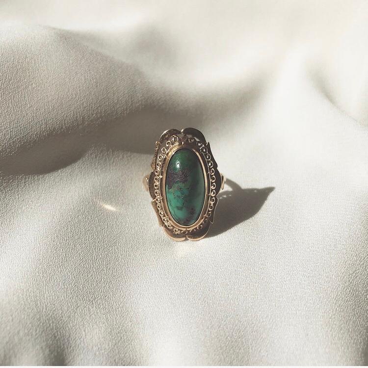 Romance Turquoise 14 Karat Ring