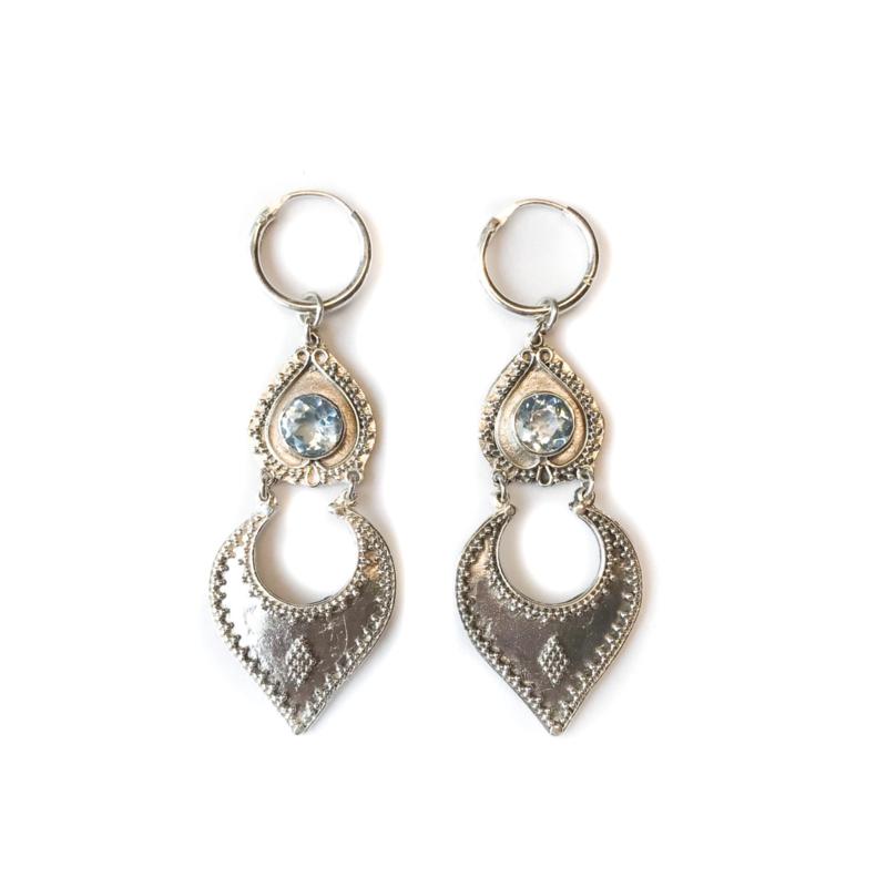Sahara  Aquamarine Dangle Earrings