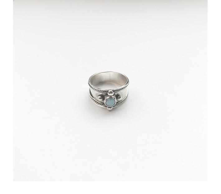 Larimar Stone ring
