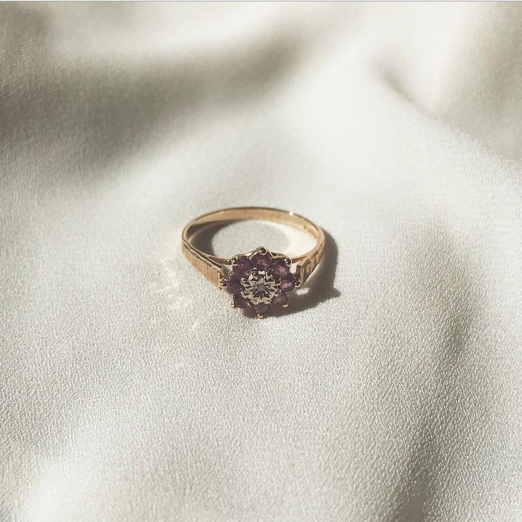 Ruby Flower Ring