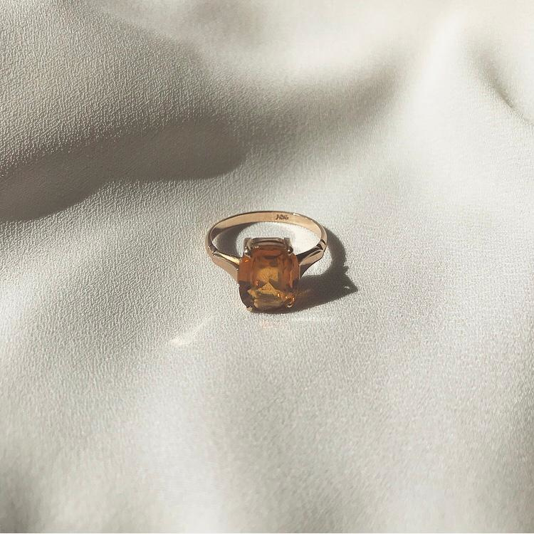 Citrine 9 Karat Ring