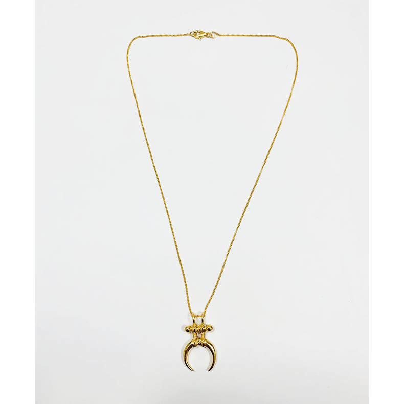 Ethnic Moon Necklace Gold
