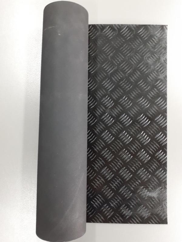 Zwart traditioneel traanplaatrubber (zonder blad)
