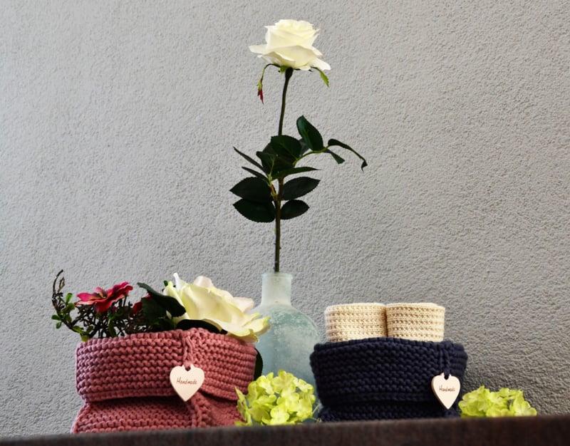 Set van 2 handmade opbergmandjes