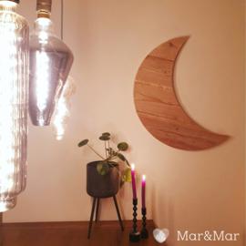 Mar&Mar - Houten Maan - 70x76cm - handgemaakt - robuust