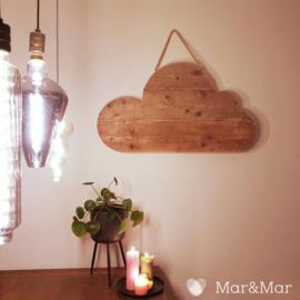 Mar&Mar - Houten Wolk - 100x57cm - handgemaakt - robuust