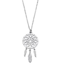 Lotus Silver zilveren ketting met hanger dreamcatcher