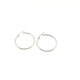 Handgemaakte oorbellen in wit goud