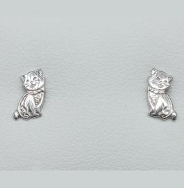 zilveren oorbellen katjes