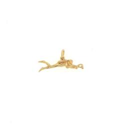 Plaqué gouden hanger harpoenduiker