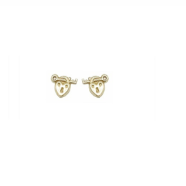 gouden oorbellen 'key to your heart'