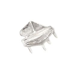 Zilveren hanger vleugelpiano