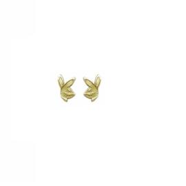 gouden oorbellen konijnenkopje