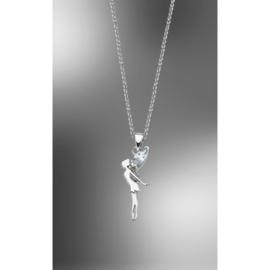 zilveren ketting met hanger elfje