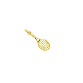 Plaqué gouden hanger tennisracket
