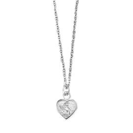 Herzengel zilveren ketting met hanger engeltje