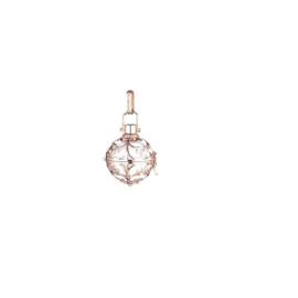 Engelsrufer zilveren hanger met klankbol, medium, rosé verguld