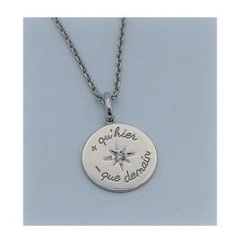 GO Mademoiselle zilveren ketting met médaille d'amour