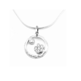 Orage Teenz zilveren ketting met hangertje bloempje