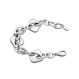 Lotus Style armband met geometrische schakels - edelstaal