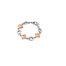 Lotus Style armband met ruitvormige schakels - edelstaal