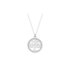 Lotus Silver zilveren ketting met hanger levensboom