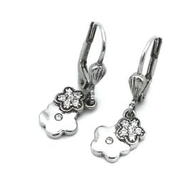 Orage Kids zilveren oorbelletjes met bloemetjes
