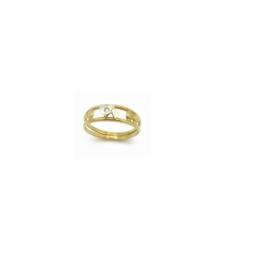 Ring in bicolor goud met diamant
