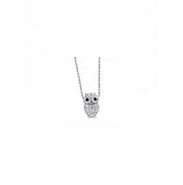 Lotus Silver zilveren ketting met hangertje uiltje