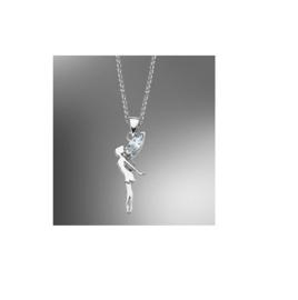 Lotus Silver zilveren ketting met hanger elfje
