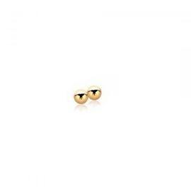 Zinzi zilveren oorstekers bollekes, geel verguld