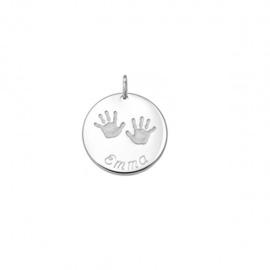 Tresor zilveren plaatje met babyhandjes
