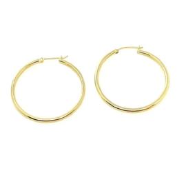 Handgemaakte oorbellen in geel goud