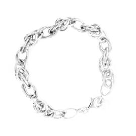 Zilveren armband in een Byzantijnse schakel