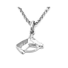 zilveren ketting met hangertje paardenkopje