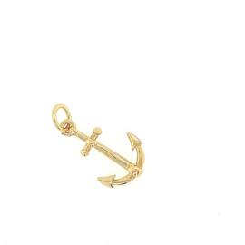 Plaqué gouden hanger anker