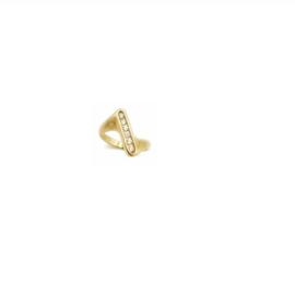 Ring met cubic zirconia in plaqué goud