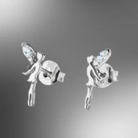 zilveren oorbellen elfjes met cubic zirconia