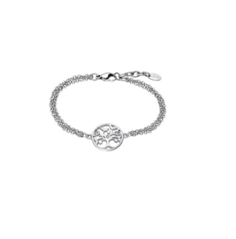Lotus Style edelstalen armband met levensboom