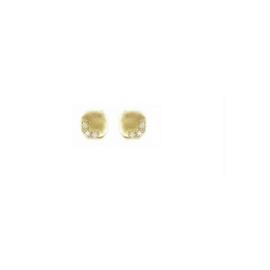 Handgemaakte oorbellen in geel goud met cubic zirconia