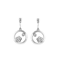 Orage Teenz zilveren oorbelletjes met bloempjes